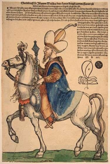 Velikivezir-Ibrahim-paša-Pargalija-jaše-konja-.-Hans-Sebald-Beham-oko-1530.-godine