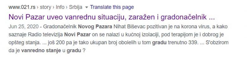 25.06 Novi Pazar uveo je vanredno stanje