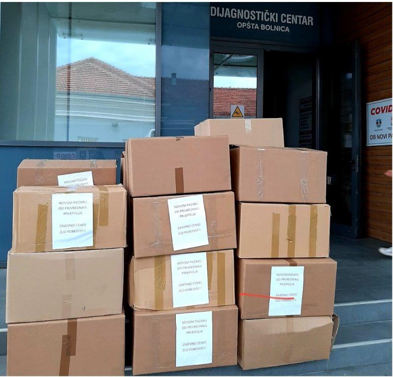 Pomoć iz Prijepolja stigla u novopazarsku bolnicu, foto: www.ppmedia.rs