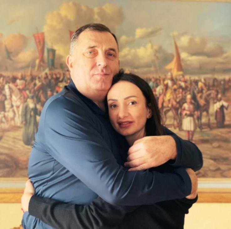 Milorad Dodik sa ćerkom
