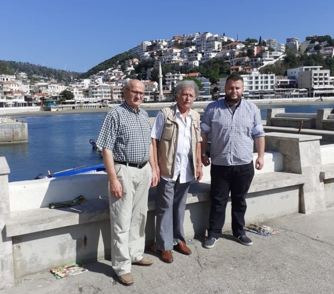 S lijeva: Harun Hadžić, Mehmed Bardhi i Fatih Hadžić (Ulcinj 2019.)